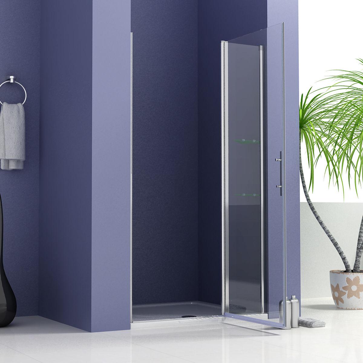 Dusche Pendelt?r Schwingt?r : Frameless Pivot Shower Doors with Side Panel