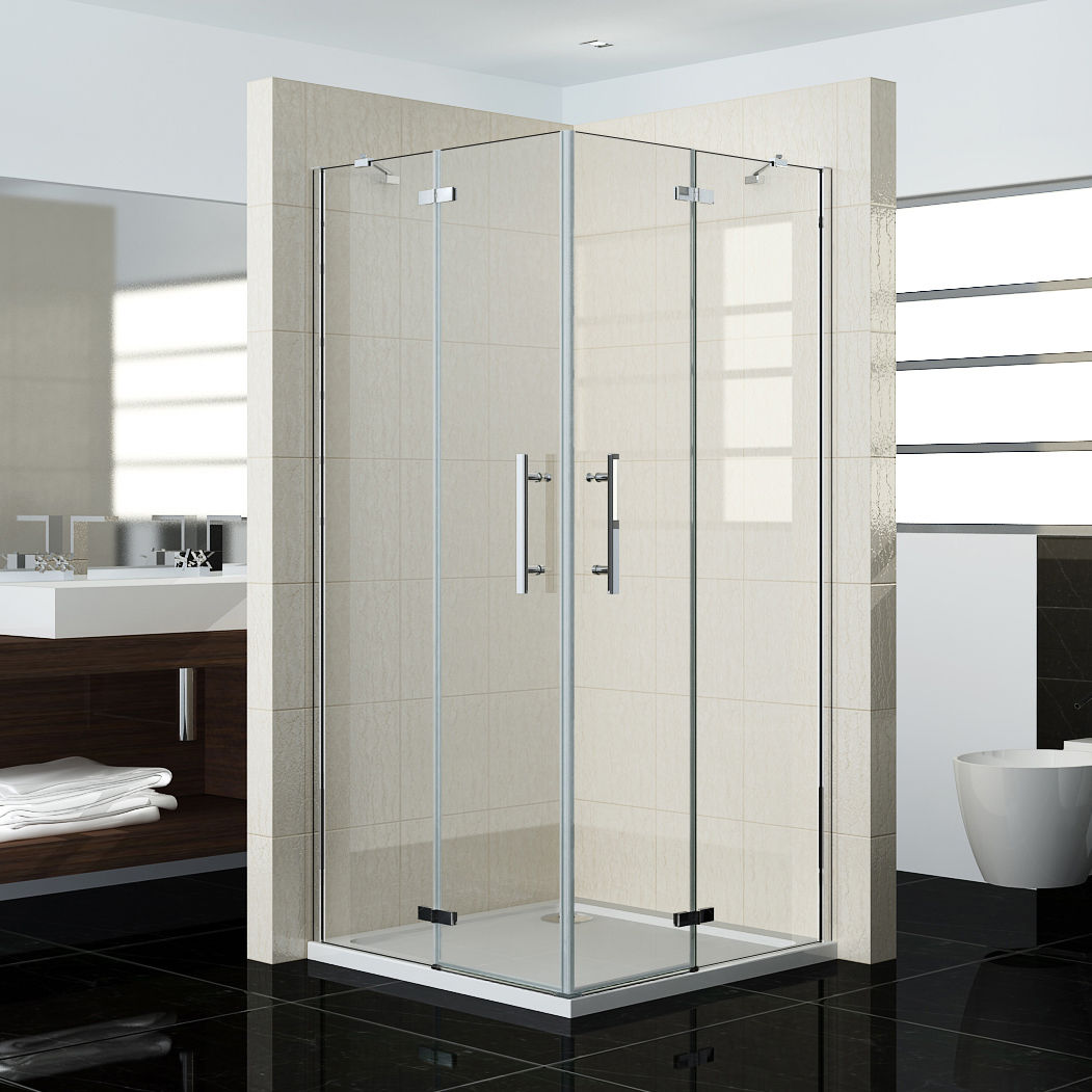 Pivot Frameless Corner Entry Shower Enclosure Cubicle