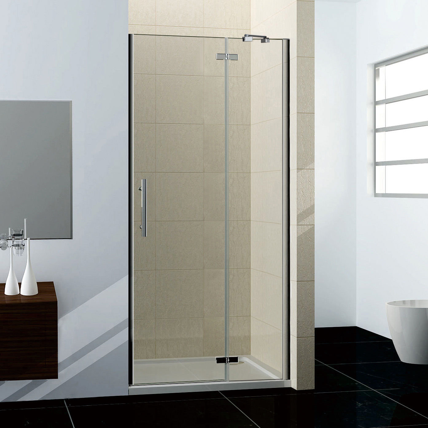 Bifold Pivot Sliding Quadrant Hinge Shower Enclosure Walk