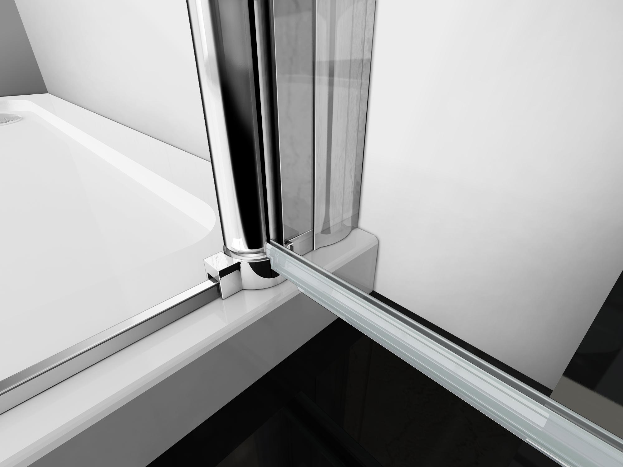 dusche nischent r schwingt r faltt r duschabtrennung duschwand echtglas 90cm ebay. Black Bedroom Furniture Sets. Home Design Ideas
