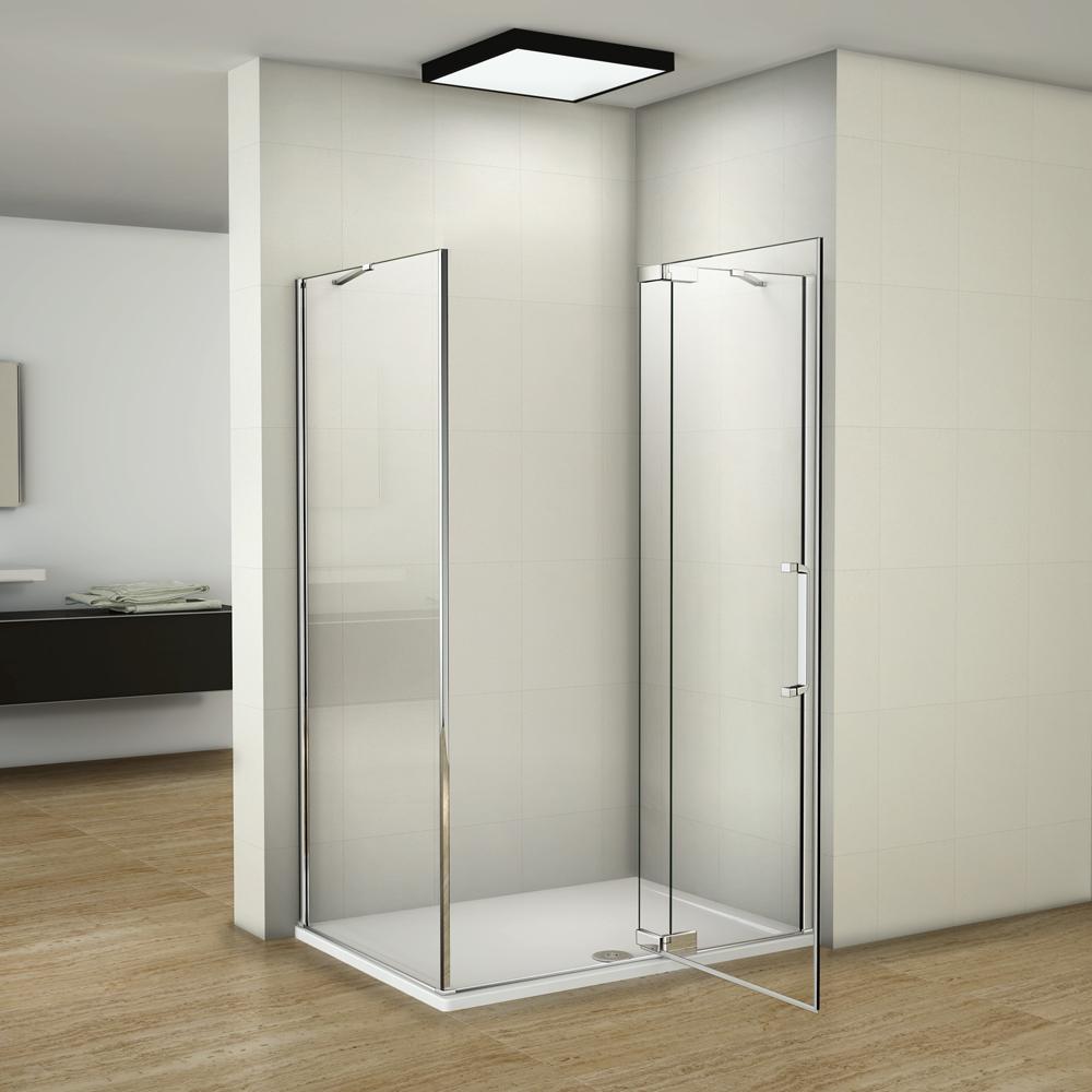 duschkabine nano glas duschabtrennung dusche eckeinstieg duschwand duschtasse ebay. Black Bedroom Furniture Sets. Home Design Ideas