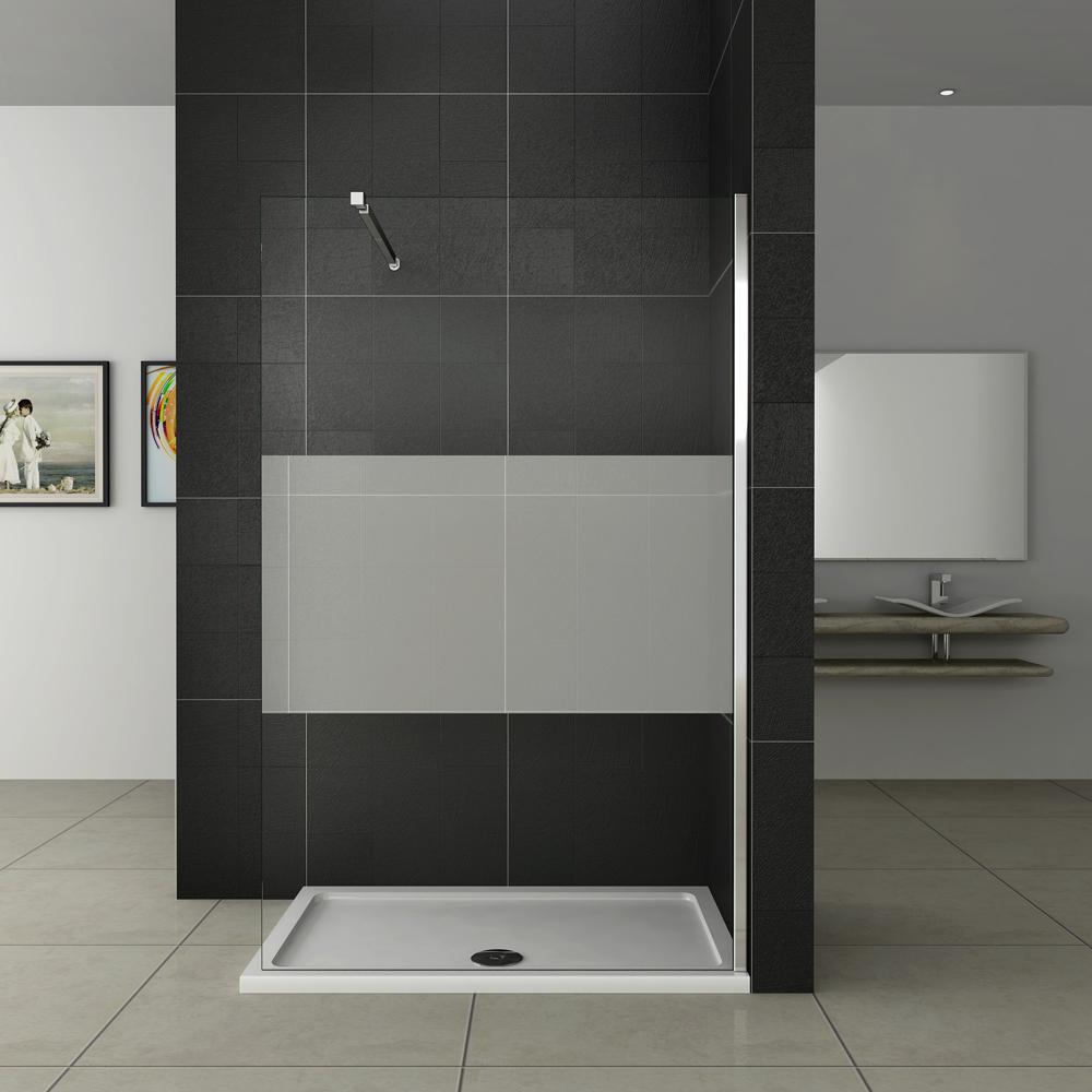 walk in dusche duschabtrennung duschwand duschtrennwand glaswand esg echtglas w. Black Bedroom Furniture Sets. Home Design Ideas