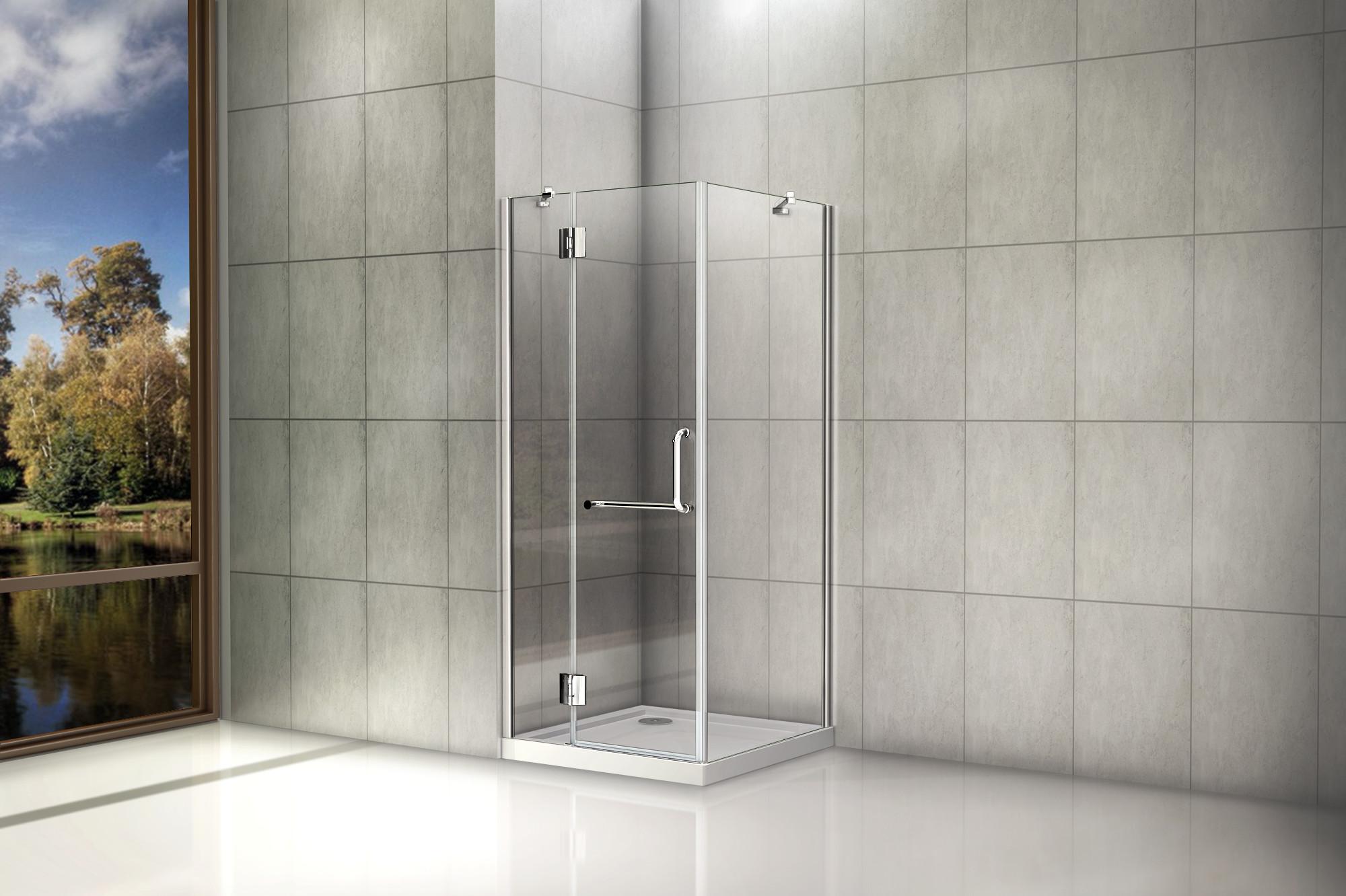 Duschkabine nischen duscht r duschabtrennung easyclean for Dusche ohne tasse