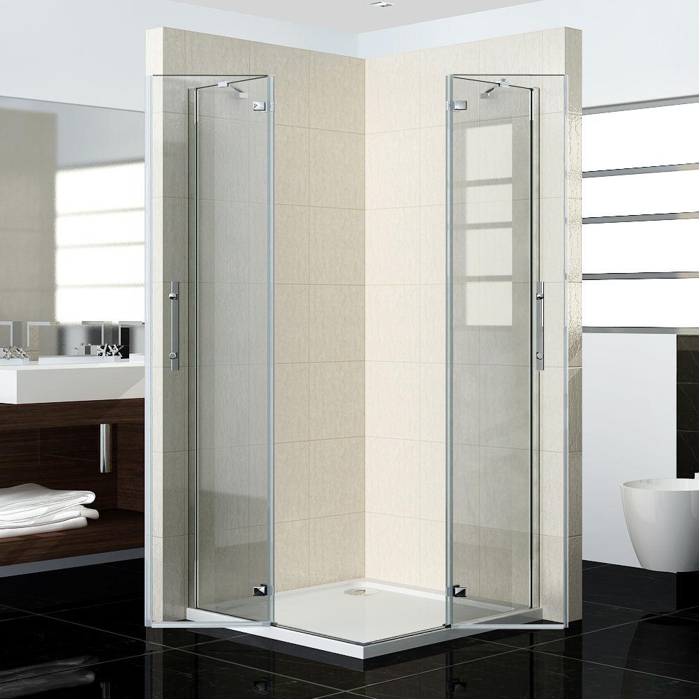 Pivot Frameless Corner Entry Shower Enclosure Cubicle