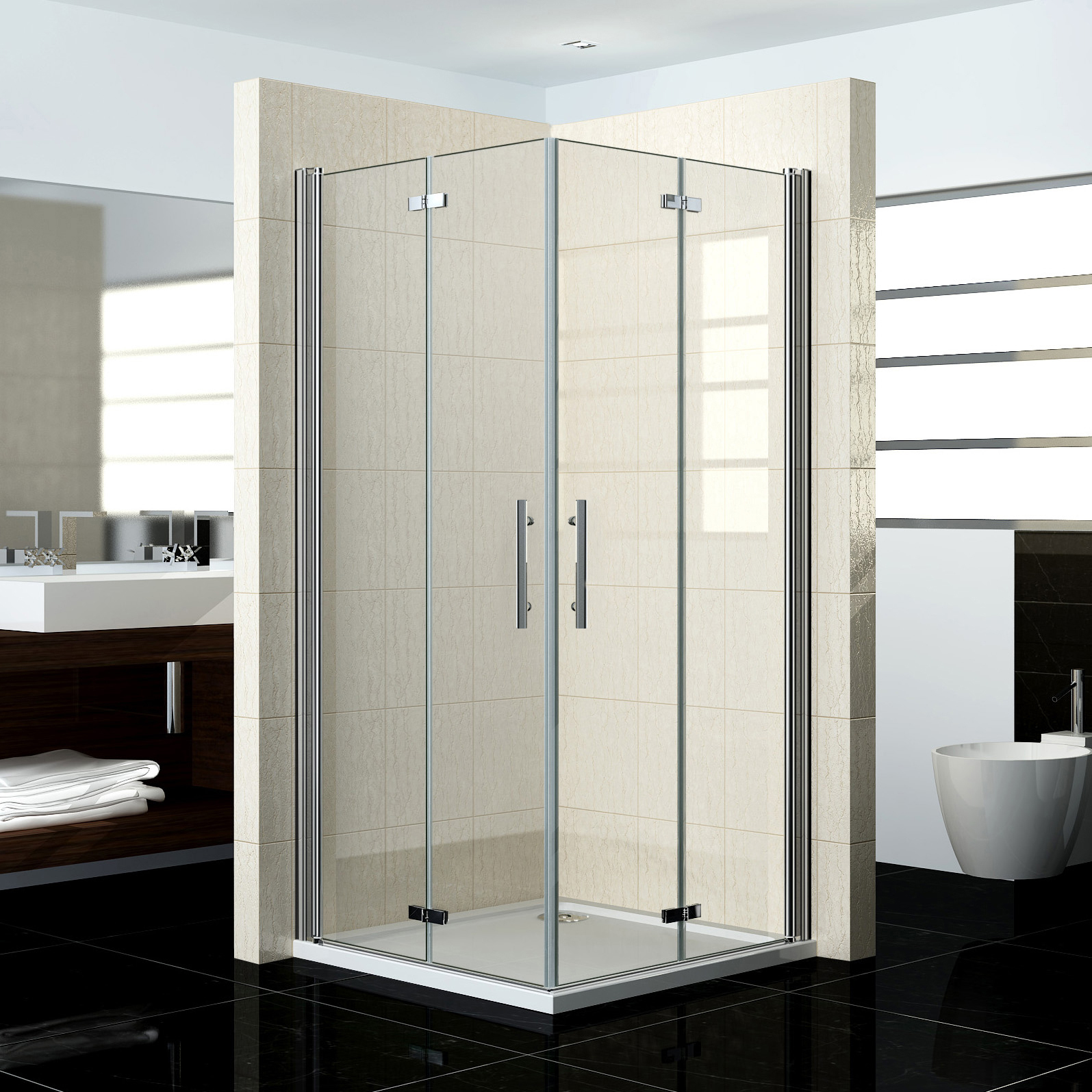 duschkabine glas 100 100 ix29 hitoiro. Black Bedroom Furniture Sets. Home Design Ideas