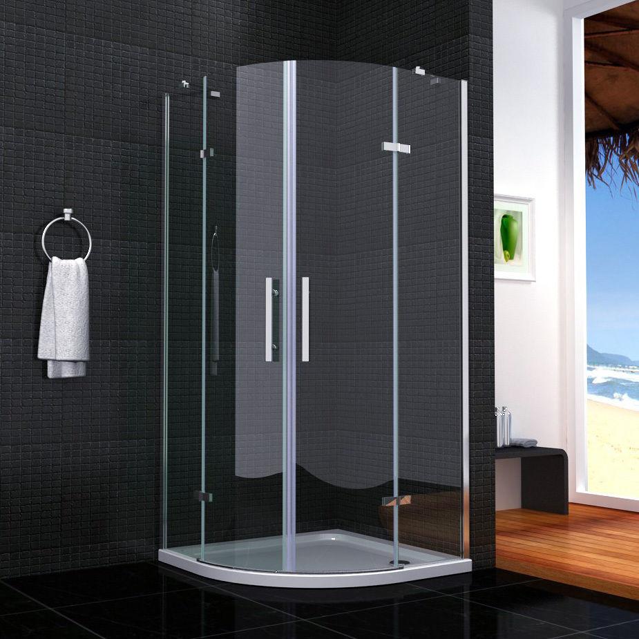 Duschabtrennung glas rund  Duschkabine Runddusche Duschabtrennung Dusche ESG Glas ...