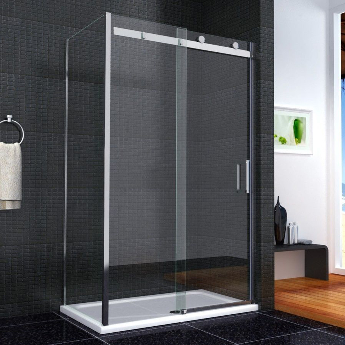 120x90cm duschkabine duschabtrennung dusche schiebet r 8mm nano glas duschwand ebay. Black Bedroom Furniture Sets. Home Design Ideas