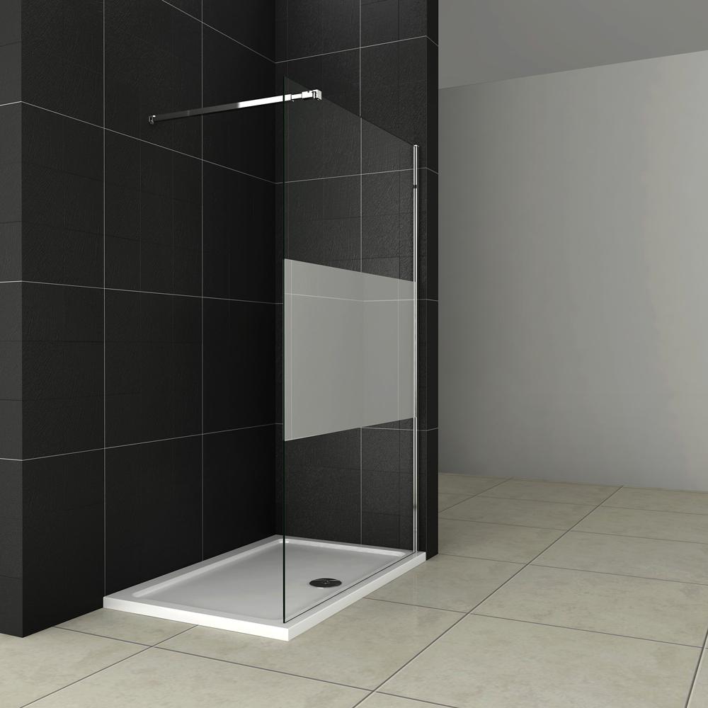 walk in esg nano dusche duschabtrennung duschwand duschtrennwand klar satiniert ebay. Black Bedroom Furniture Sets. Home Design Ideas